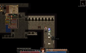 Dungeons of Dredmor beta screenshot showing Octo interrupting cheese-plundering