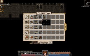 Dungeons of Dredmor beta screenshot skill tome, choosing skills