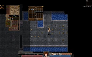 Dungeons of Dredmor beta screenshot in a treasury room with lots of gold