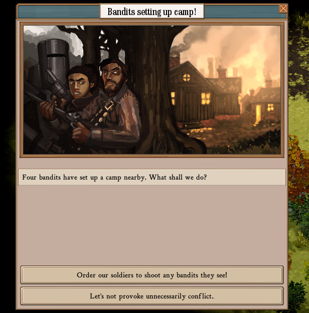 A simple event in Clockwork Empires.