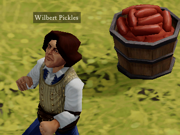Maybe all Wilbert Pickles desires is to own a bushel of sausages. Why not?