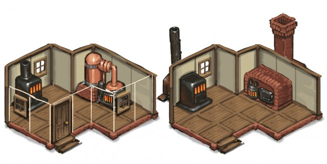 The first CE concept art for building interiors -- this is when we decided it was possible.