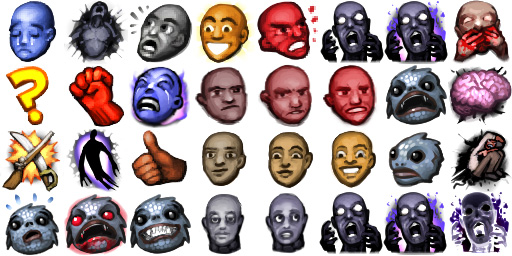 The complete range of all possible emotions, in icon form.